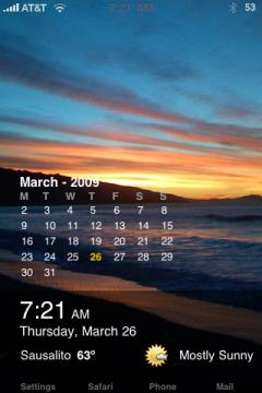 Time Weather Calendar Theme