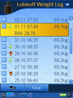 Lubisoft Weight Log UIQ3
