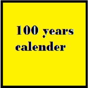 100 years calender