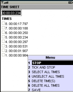 Chron - mobile chronometer application w