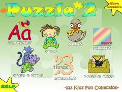 123 Kids Fun Puzzle Green Lite