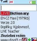 EN-CZ LIVE Dictionary 1.0