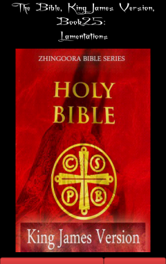 Holy Bible, King James Version, Book 25 Lamentations
