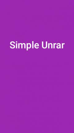 Simple Unrar