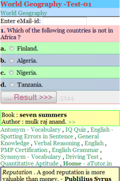 World Geography Quiz 1