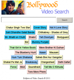 Bollywood Video Search