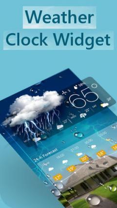 Weather and clock widget