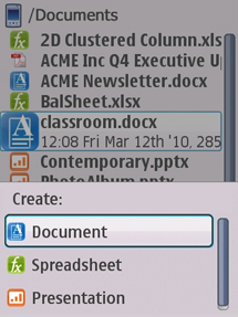 Quickoffice® Pro for Symbian S60 3.2 Edition - Create & Edit & View Microsoft Office Files