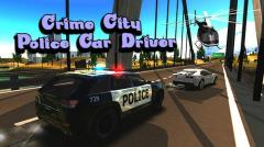 Crime city police car driver