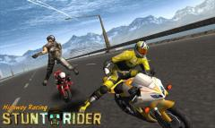 Highway racing: Stunt rider. Rash