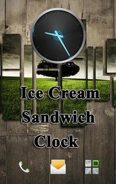 Ice cream sandwich clock