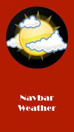 Navbar weather - Local forecast on navigation bar