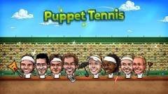 Puppet tennis: Forehand topspin