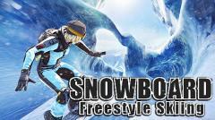 Snowboard freestyle skiing