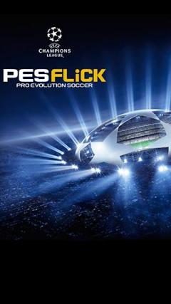 UEFA champions league: PES flick. Pro evolution soccer