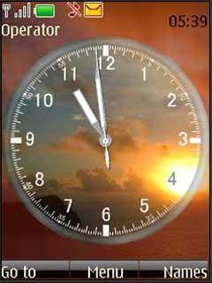 Clock - Sunset