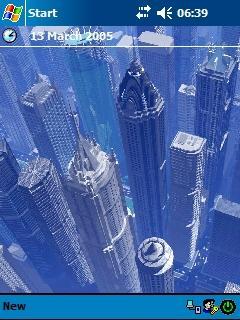 3D City (1) Theme for Pocket PC