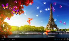 3D Eiffel Tower Live Wallpaper