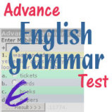 Advance English Grammar Test