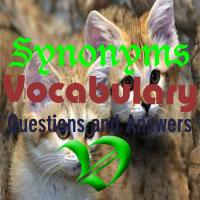 Synonyms  Vocabulary