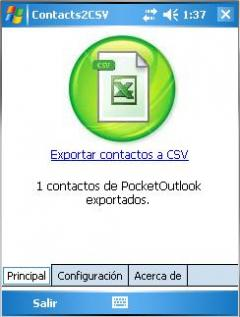 Contacts2Excel [CSV]