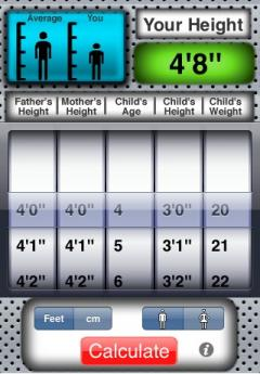 A+ Talking Height Calculator