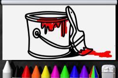 Adam's Art - Finger Paint Coloring Book