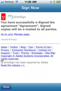 Adobe EchoSign