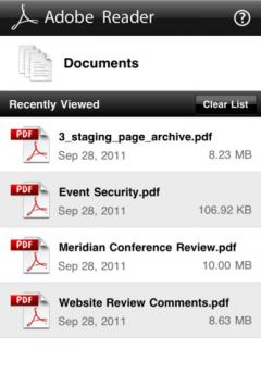 Adobe Reader for iPhone/iPad