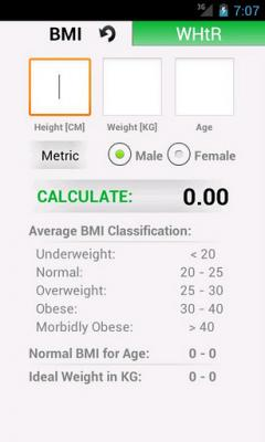 Android BMI Calculator