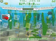 Aquarium Theme for BlackBerry 8700