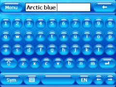 Arctic Blue Skin for SPB Keyboard