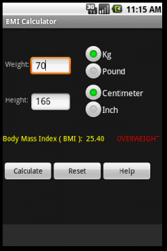 BMI Calculator (Android)