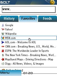 BOLT Browser (Java/BlackBerry)