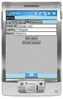 BT747 MTK GPS Datalogger Device Control