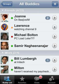 BeejiveIM for Google Talk (iPhone)