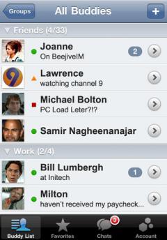 BeejiveIM for Google Talk (iPhone)
