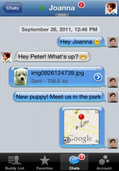BeejiveIM for Yahoo Messenger (iPhone)
