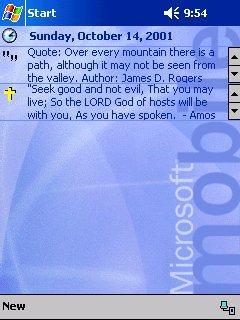 Bible Verses Today Screen Module