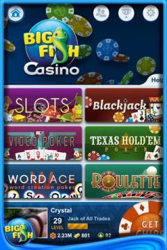 Big Fish Casino for iPhone/iPad