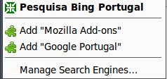 Bing Portugal - Firefox Addon