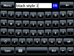 Black Style 1 Skin for SPB Keyboard