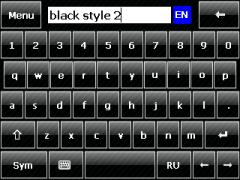 Black Style 2 Skin for SPB Keyboard