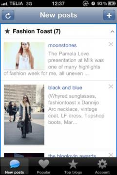 Bloglovin' for iPhone/iPad