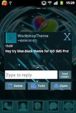 GO SMS Pro Theme Black Blue