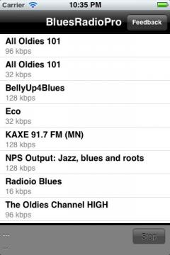 Blues Radio Pro for iPhone/iPad