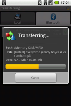 Bluetooth File Transfer (OBEX FTP) for Android
