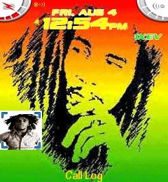 Bob Marley 2 Theme for Blackberry 7100