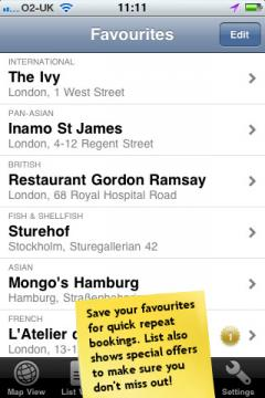 Bookatable (iPhone/iPad)