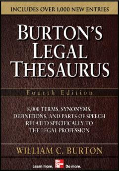 Burton's Legal Thesaurus (iPhone/iPad)